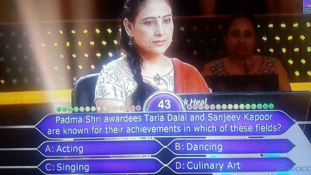 Anamika Majumdar kbc question 6Anamika Majumdar kbc question 6