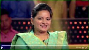 Deputy collector anuradha kbc contestant