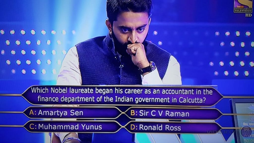 Ques Which Nobel laureate began his career as an accountant in the finance Department of the Indian Government in Calcutta