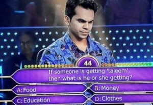 Tausif Syed Ali KBC Question 4
