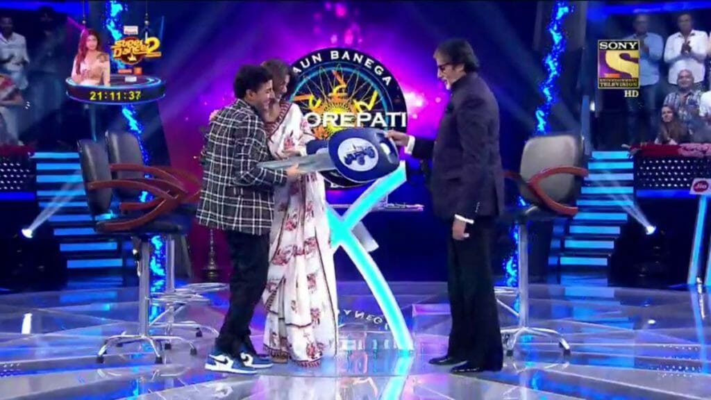 kbc contestant gift from amiatbh bachchan