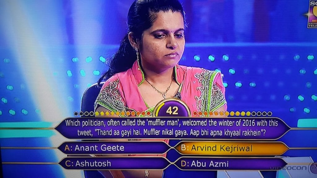 Meenaxi Jain from Mumbai on KBC Hotseat 3
