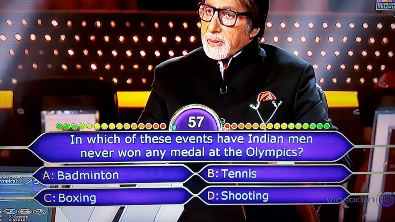 Ques : In which of these events have Indian men never won any medal at the Olympics?