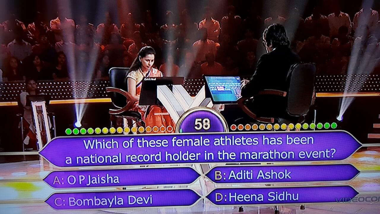 Ques : Which of these female athletes has been a national record holder in the marathon event?