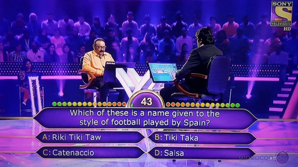 Ques Which of these is a name given to the style of football played by spain