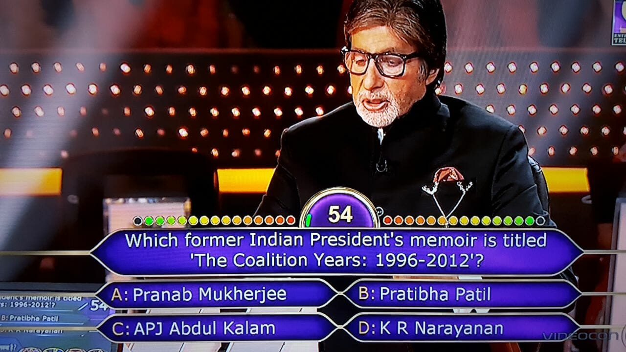 Ques which former Indian Presidents memoir is titled 'The Coalition Years 1996 - 2012