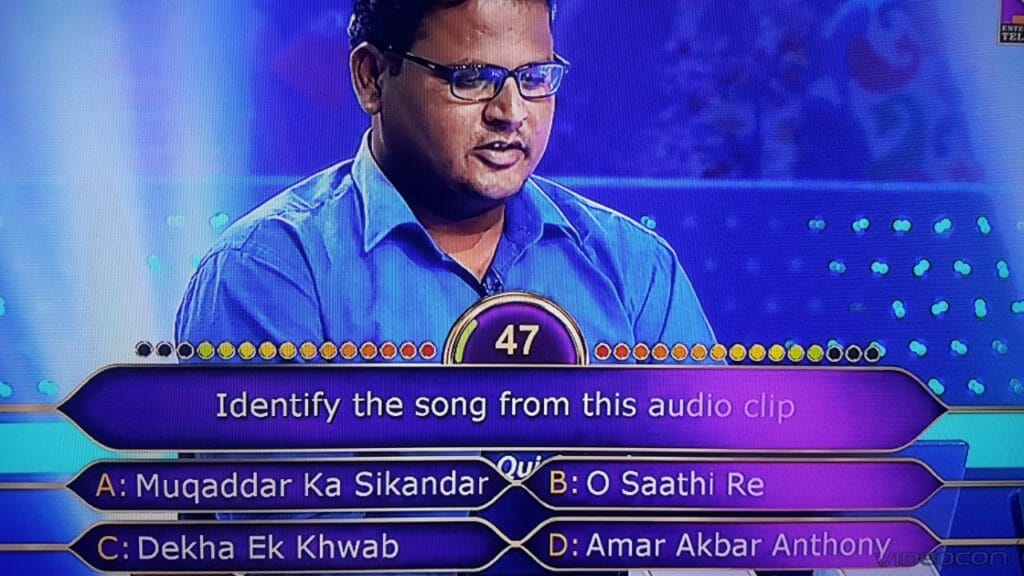 Rajudas Rathod from Beed as a KBC Contestant