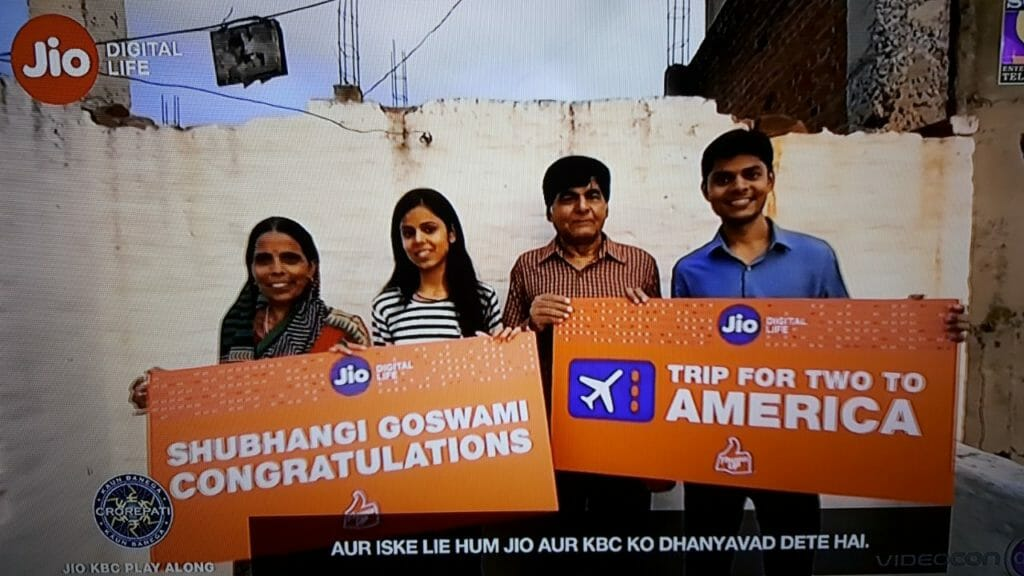 Shubhangi Goswami won trip for Two to America in Jio Play Along