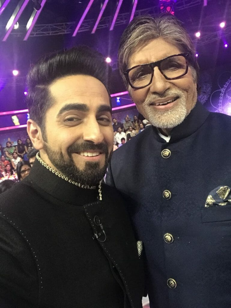 Ayushmann Khurrana on the set of KBC Aaj Raat 9 Baje