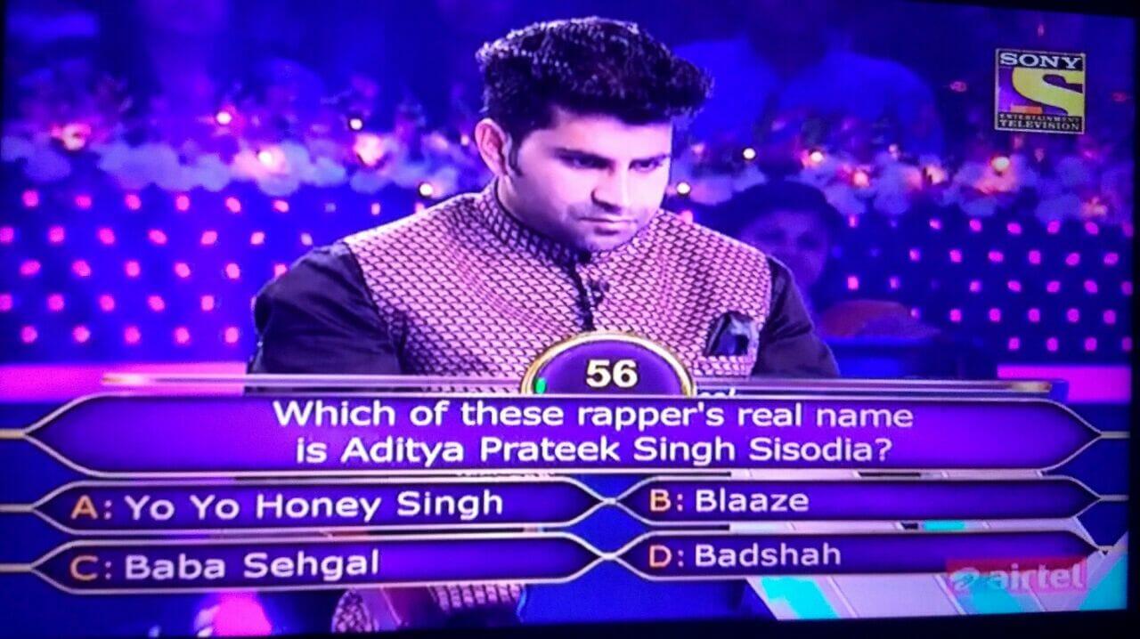 baadshah KBC Question