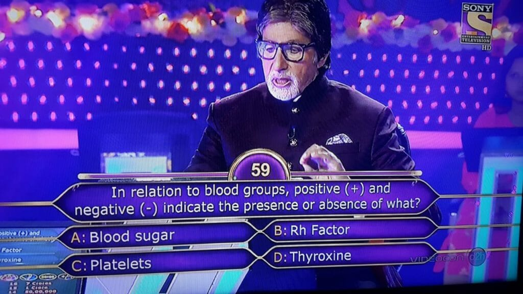 blood group kbc question