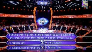 fastest finger first answer