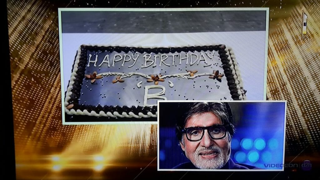 Be a part of legend SrBachchan's Birthday celebrations on the KBC Set