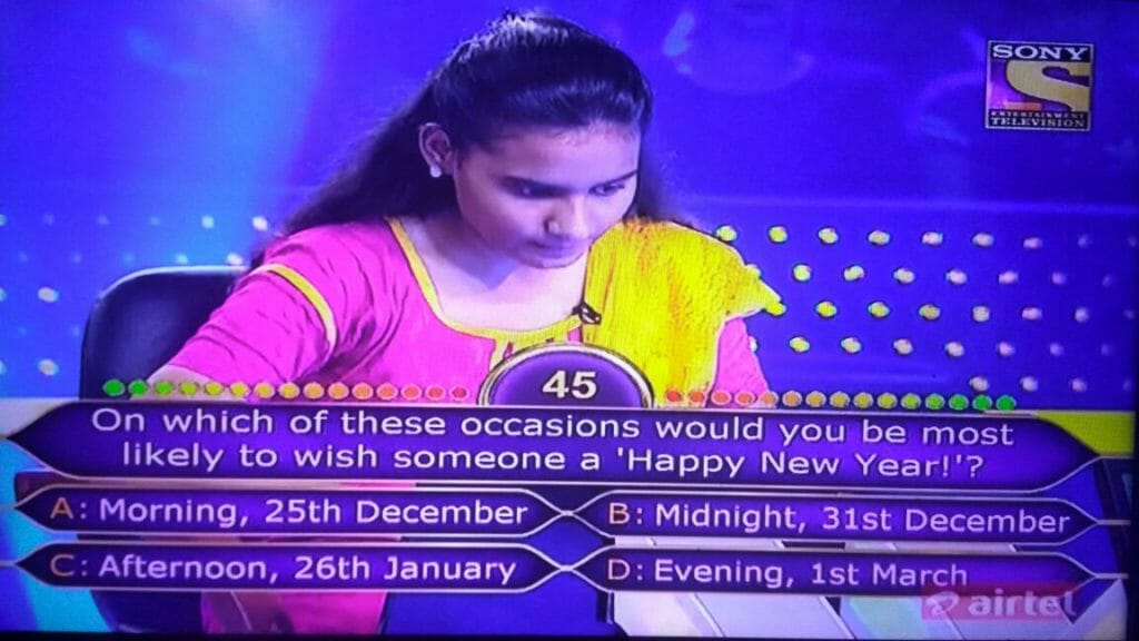 happy new year question kbc
