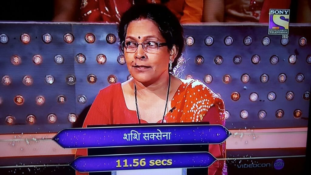 Second contestant of the week : Shahshi Saxena from Madhya Pradesh on KBC Hotseat
