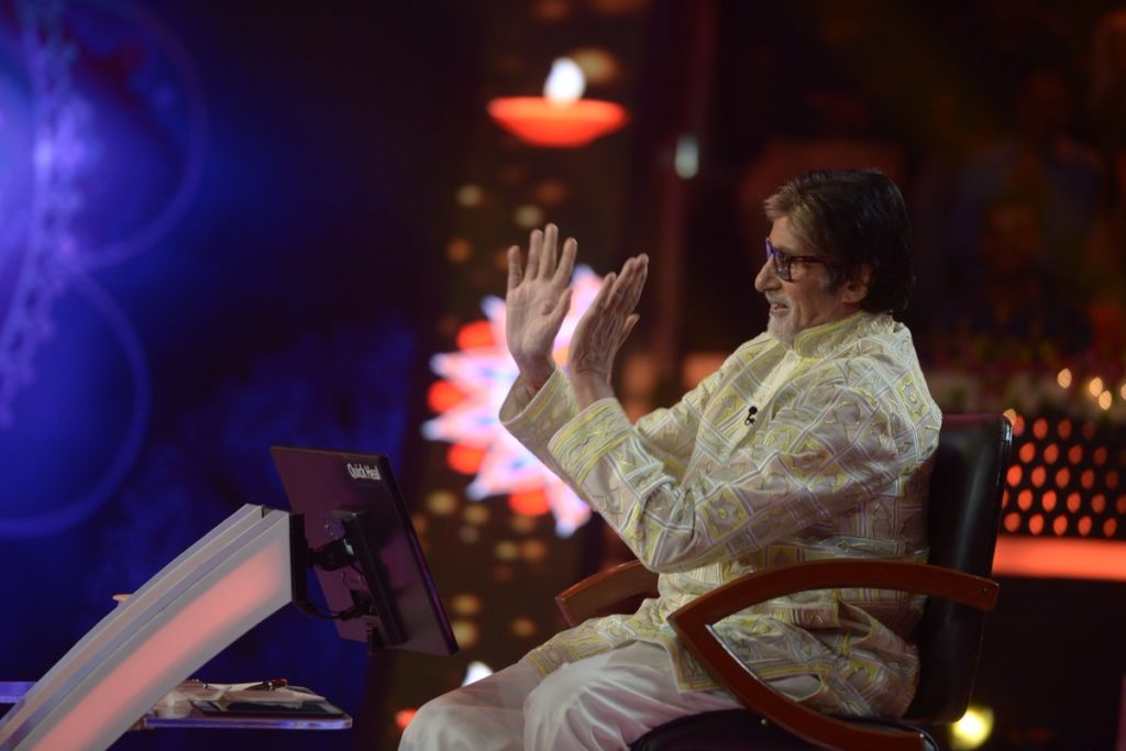 Bachchan Sir Birthday celebration going on the set of KBC