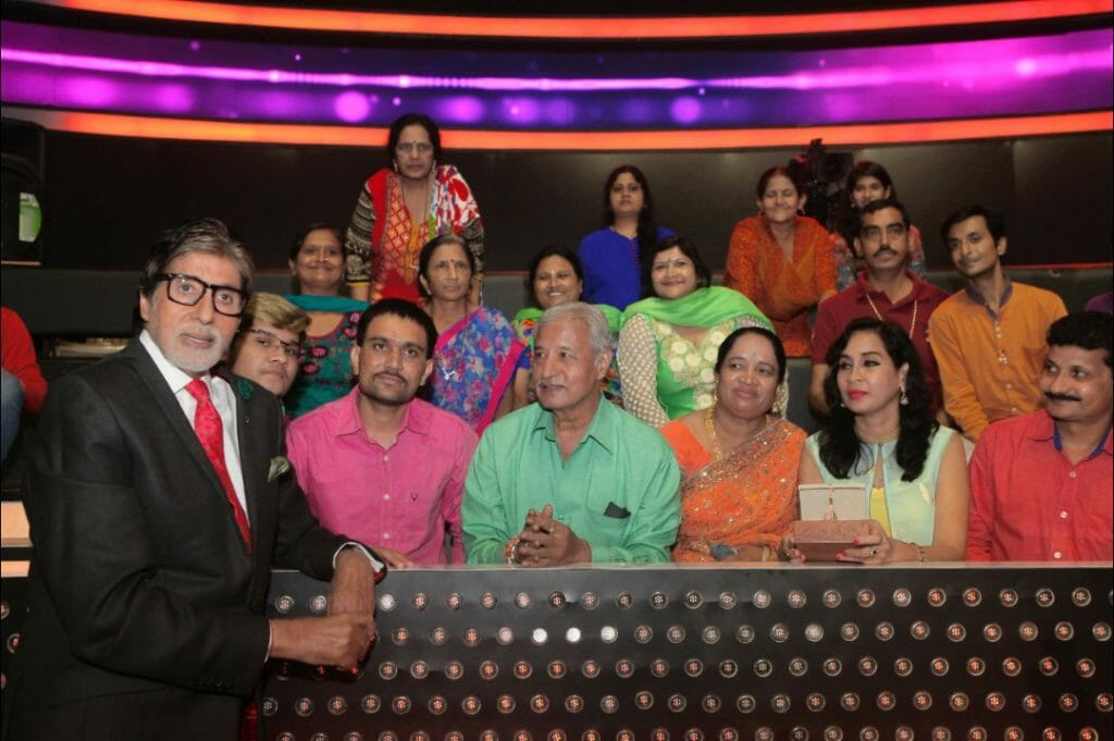 kbc fans on the set of KBC