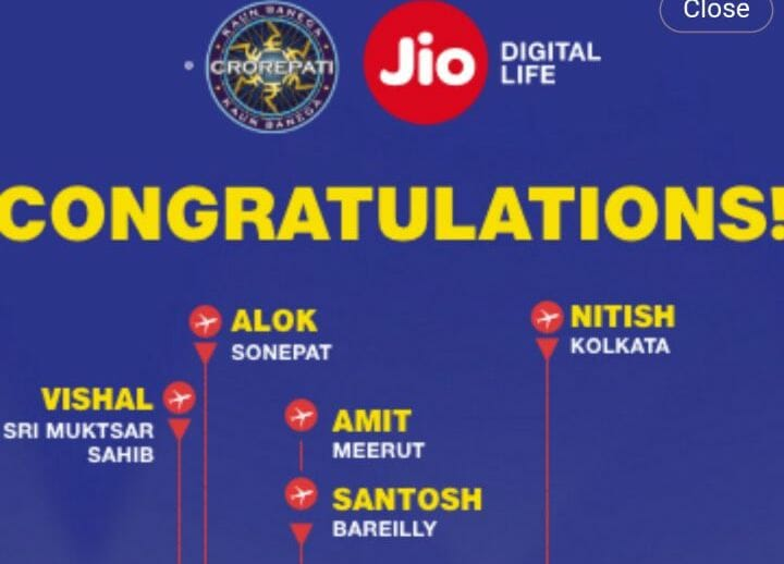 kbc jio play along winner list