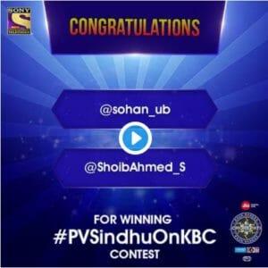 pv sindhu contest winner