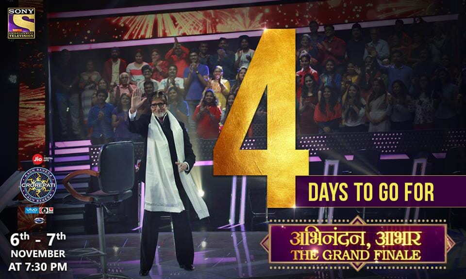 4 Days to go for the Grand Finale of India's Favourite quiz show KBC