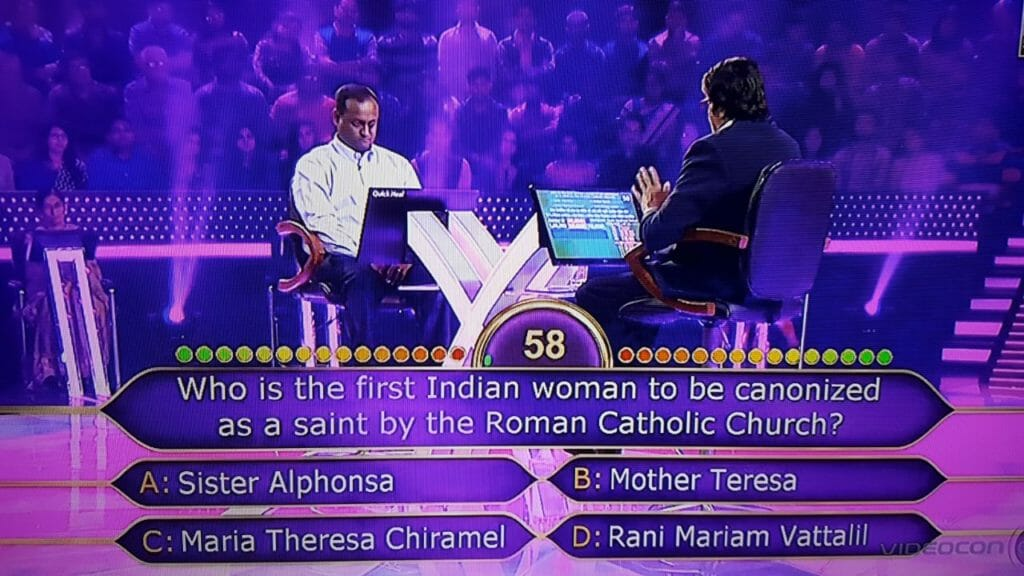 Ques Who is the first Indian woman to be canonized as a saint by the Roman Catholic Church