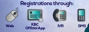 kbc 2018 registration links