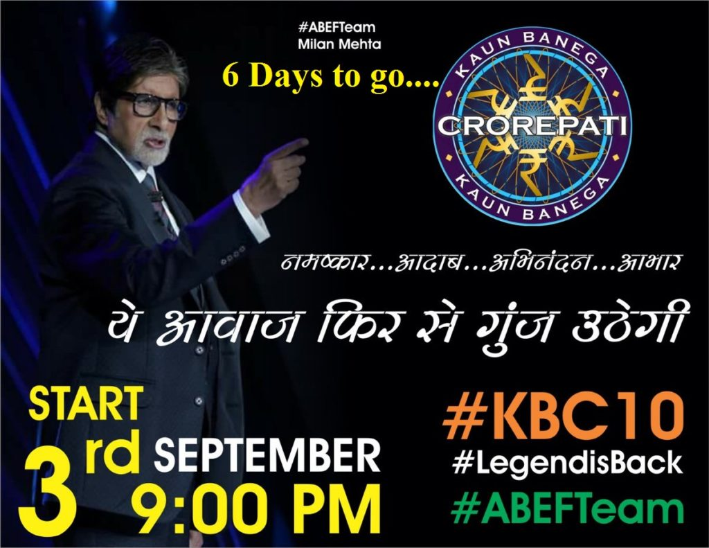 6 Days to go for KBC on SonyLiv – Kaun Banega Crorepati Season 10