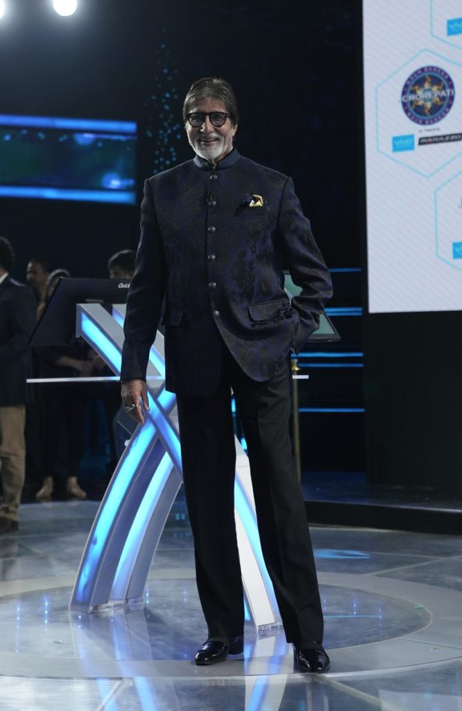 Amitabh Standing at KBC Floor