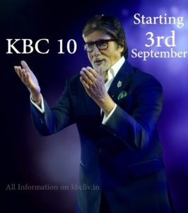 KBC Season 10 coming on 3rd September 2018 on Monday