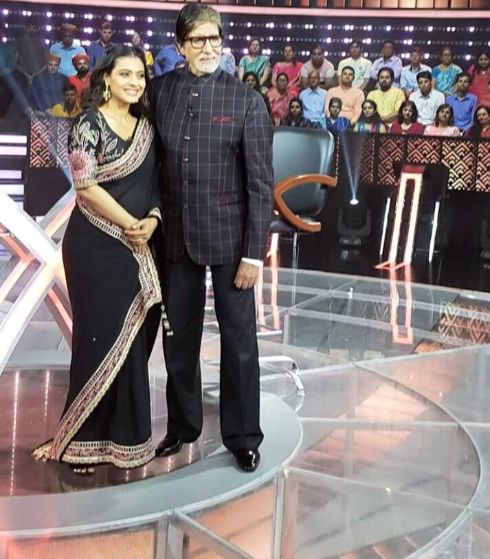 Kajol with AMitabh at KBC 10