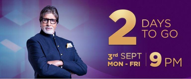 Last 2 Days – Be Crazy for KBC on SONY – Starting 3rd September