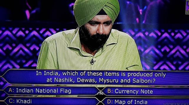Ques : In India, which of these of items is produced only at Nashik, Dewas, Mysuru and Salboni?