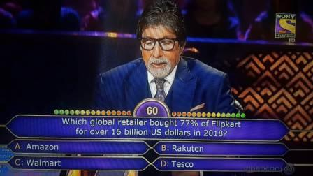 Ques Which global retailer bought 77% of Flipkart for over 16 billion US dollars in 2018