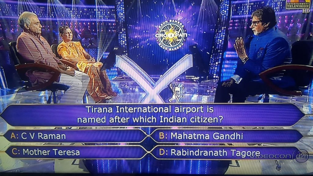 Ques : Tirana International Airport is named after which Indian Citizen?
