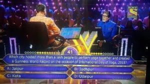 World Record on the occassion of International Day of Yoga 2018