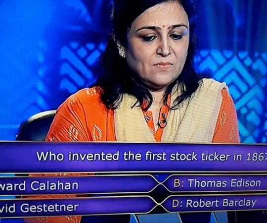 7 Crore KBC Question : Who Invented The First Stock Ticker In 1867?