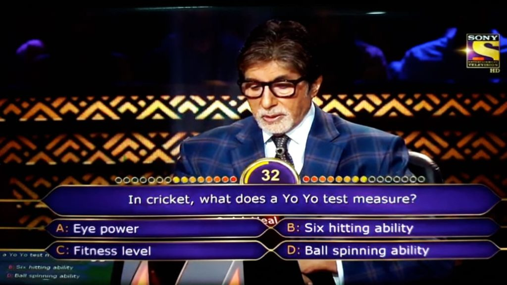Ques : In cricket, what does a Yo Yo test measure?