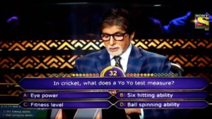 Yo Yo test in KBC