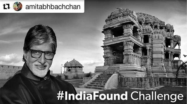 Urging all to take up India Found challenge #IndiaLostAndFound
