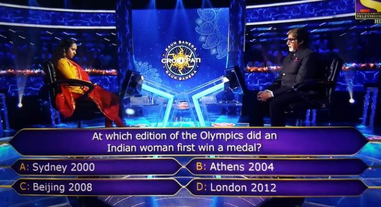 Ques : At which edition of the Olympics did an Indian woman first win a medal?