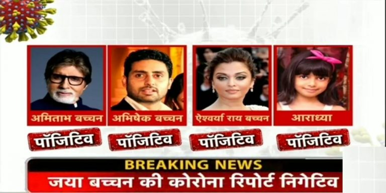 अमिताभ और अभिषेक के बाद एश्वर्या राय बच्चन और अराध्या बच्चन भी कोरोना पॉजिटिव