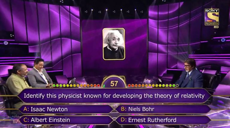 Ques : Identity this physicist known for developing the theory of relativity