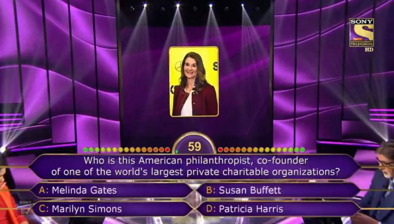 Ques : Who is this American philanthropist, co-founder of one of the world's largest private charitable organizations?