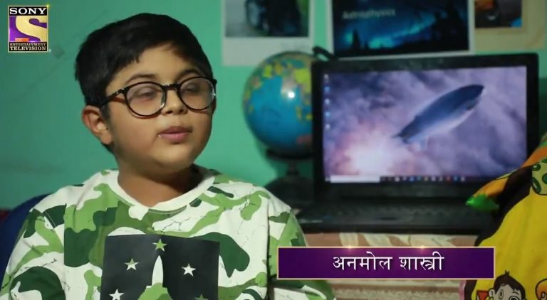 Little genius ANMOL SHASTRI aka Mr. Jigyasu dreams of becoming a Nobel laureate and an astrophysicist.  Watch him on the hotseat in our StudentSpecialWeek
