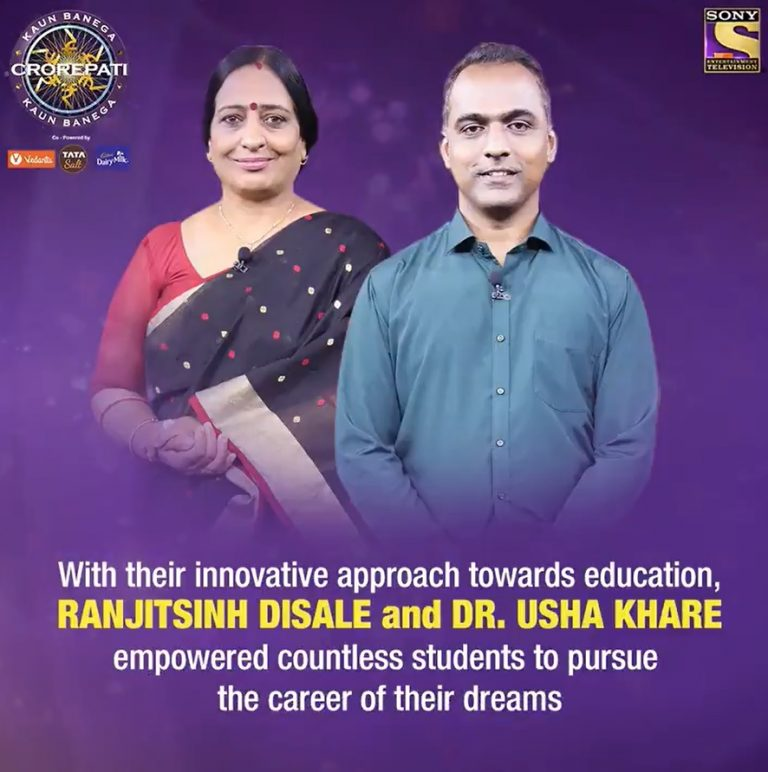 Watch RANJITHSINH DISALE and DR. USHA KHARE tonight on KBC Karamveer at 9PM only on Sony TV