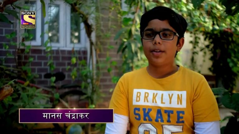 MANAS CHANDRAKAR – Watch him on the hotseat in Students Special Week on KBC12