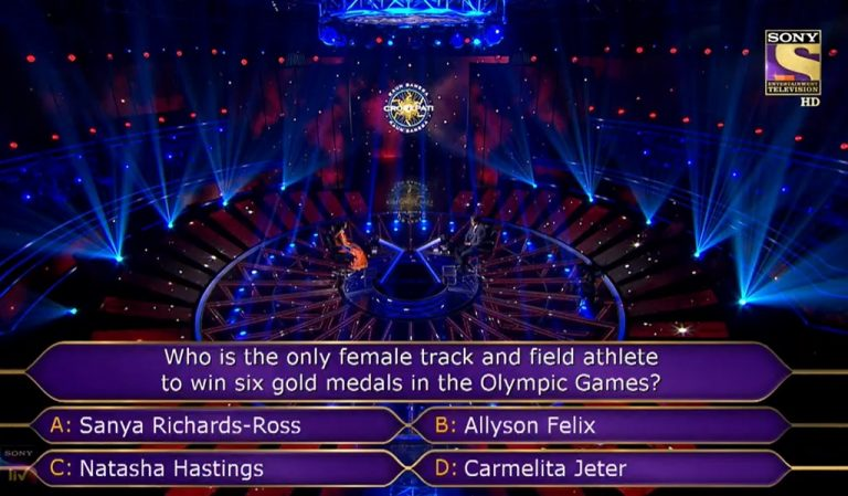 Ques : Who is the only female track and field athlete to win six gold medals in the Olympic Games ?