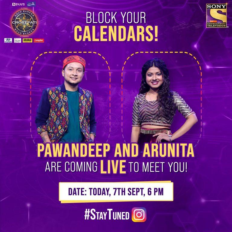 Idol Arunita and Idol Pawandeep hit the KBC floor