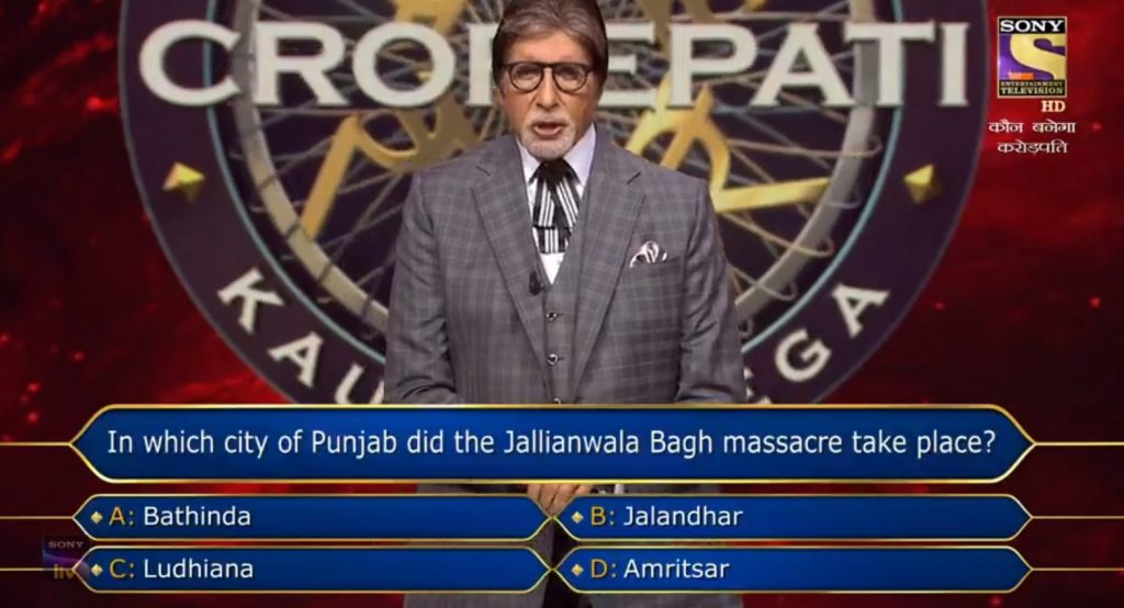 Ques : In which city of Punjab did the Jallianwala Bagh massacre take place?