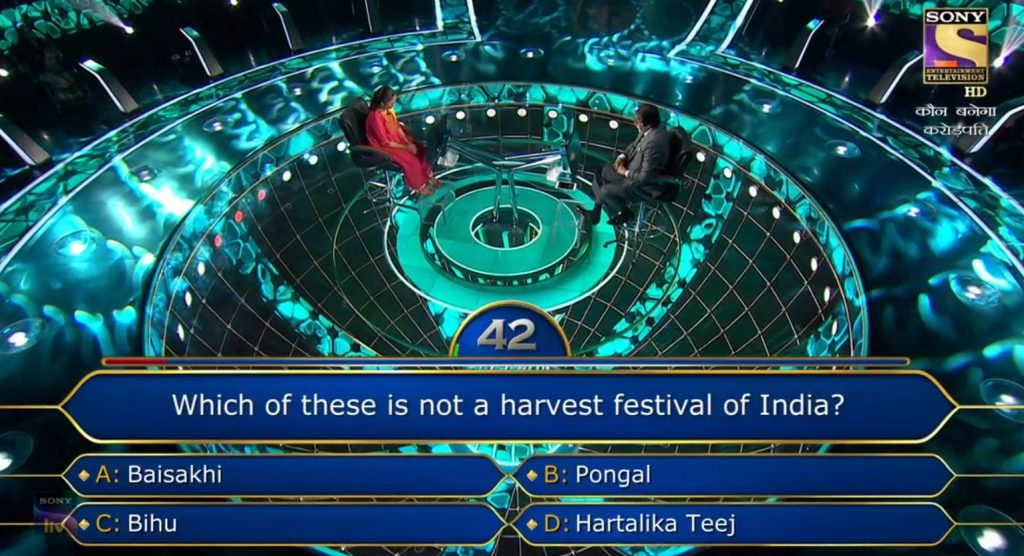 Ques : Which of these is not a harvest festival of India?